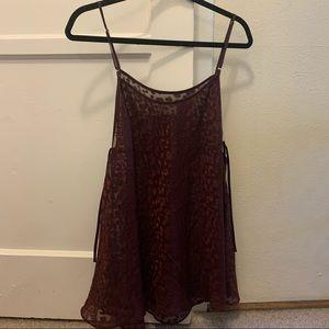 Cheetah print slip top lingerie